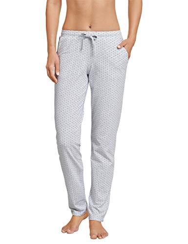 Schiesser Damen Mix & Relax Jerseyhose lang Schlafanzughose, Grau (Grau-Mel. 202), 38