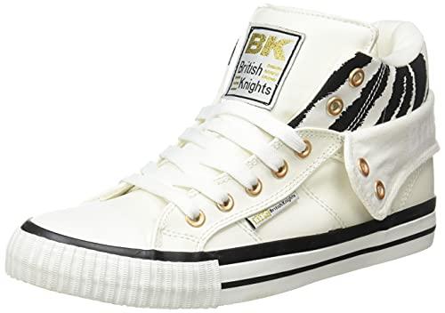British Knights Damen ROCO Sneaker, Weiss Zebra, 39 EU