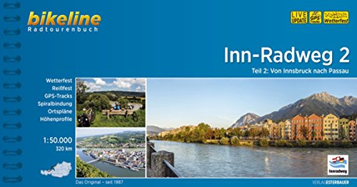 Inn-Radweg / Inn-Radweg 2: Von Innsbruck nach Passau. 1:50.000, 320 km