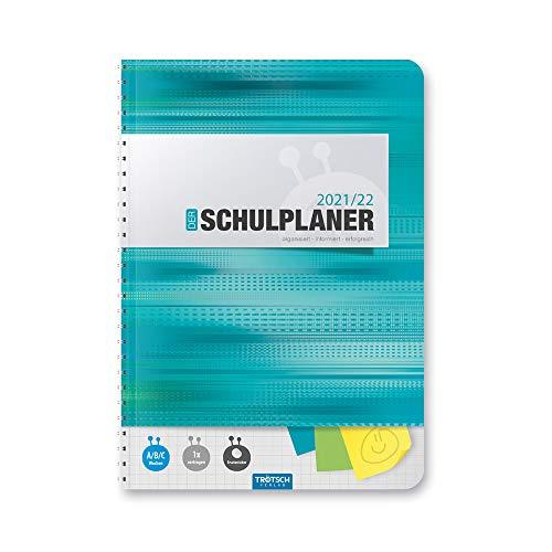 Schulplaner, türkis 2021/2022, Hausaufgabenheft für die Schule: Planer Schülerkalender Hausaufgabenheft Timer