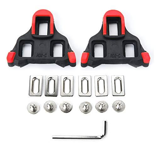 HQCM Fahrrad Schuhplattenset, SPD Compatible Bike Pedal Cleats, Pedalplatten Fahrradzubehör Set für Shimano