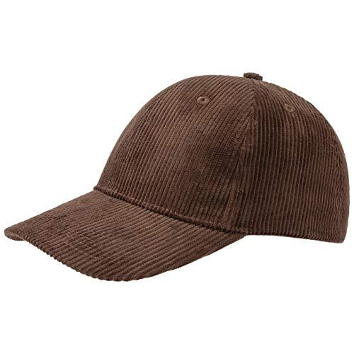 Hutshopping Basic Cord Baseballcap Basecap Cap Baumwollcap Kappe Cordcap (One Size - braun)