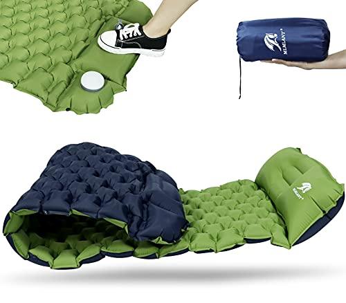 MLMLANT Camping Isomatte Kleines Packmaß - Ultraleichte Isomatte - Aufblasbare Luftmatratze - Schlafmatte für Camping Licht, Reise, Outdoor, Wandern, Strand