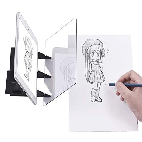 Yissma DIY Zeichenblock, Optisches Zeichenbrett, Zeichenbrett Zeichenbedarf, Sketch Wizard Bildreflexionsprojektor Zeichenbrett Zeichenhilfe für Anfänger