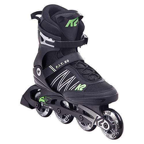 K2 Inline Skates F.I.T. 80 Für Herren Mit K2 Softboot, Black - Green, 30E0873