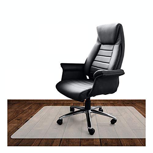 KLINOO | Bodenschutzmatte transparent | Bürostuhl Unterlage | Kratzfest | milchweiß | Made in Germany (90x120cm)