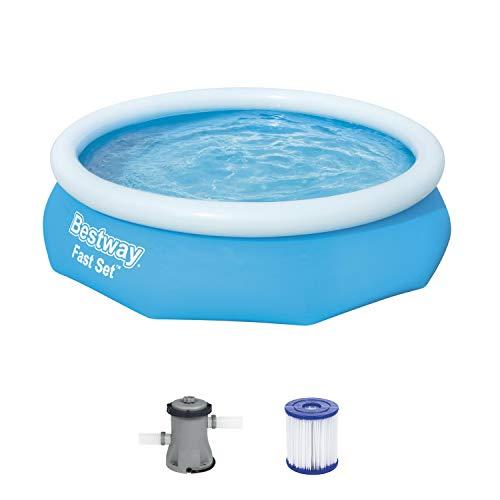 BESTWAY Fast Set Pool Set 305x76 cm, mit Filterpumpe