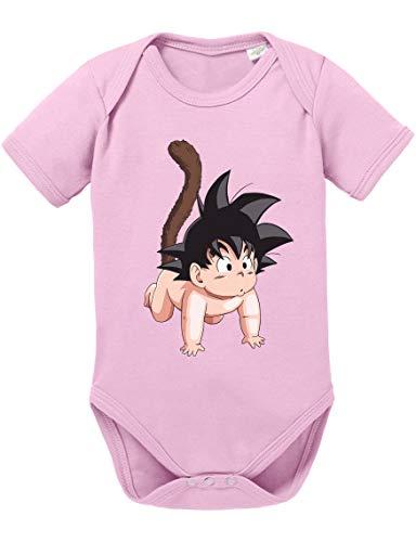 Son Baby Dragon Ball Strampler Bio Baumwolle Body Jungen & Mädchen 0-12 Monate, Größe:62/2-3 Monate, Farbe:Rosa