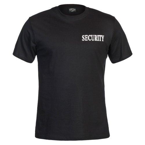Mil-Tec T-Shirt mit Doppeldruck Security, Schwarz, L