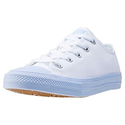 adidas Unisex-Kinder Chuck Taylor All Star II OX Basketballschuhe, Weiß (Whiteporpoise Whiteporpoise), 30 EU