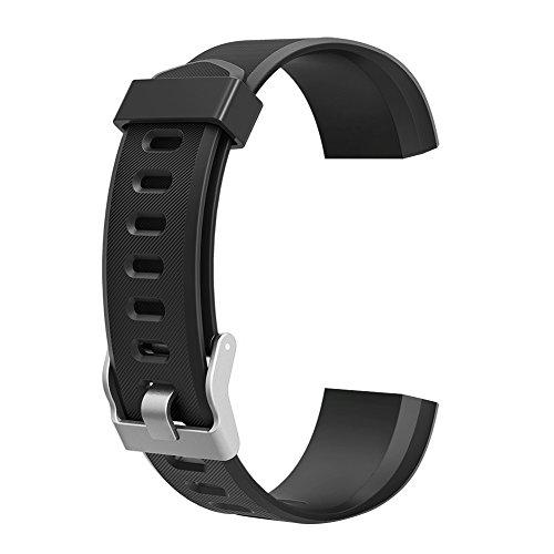 Demiawaking Armband Ersatz Zubehör für ID115Plus HR Smart Watch (Schwarz)