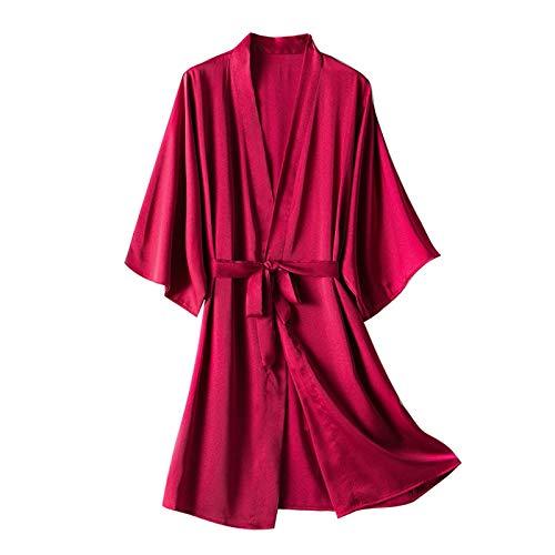 Unterwäsche Damen Set Sexy Schlafanzug Hose Kurz Bademantel Spitze Schlafanzug Damen Sommer Nachtwäsche Baby Mädchen Skiny Nachtwäsche Jumpsuit Nachtwäsche (Q1-rot,XXXL)