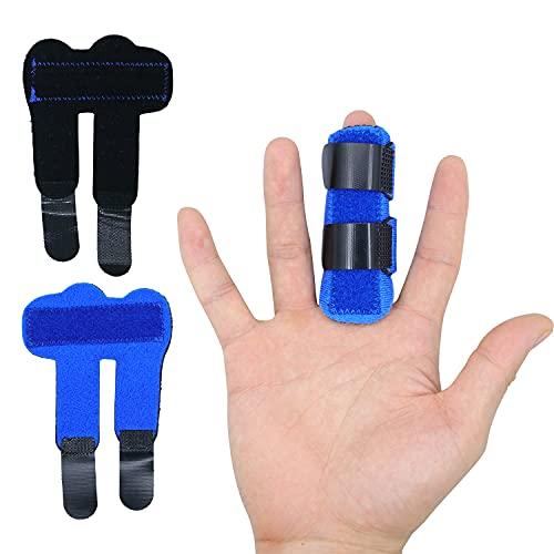 Zinyakon Trigger-Fingerschiene, 2 Stück Fingerschiene zum Begradigen, Daumenschiene für Triggerfinger, Hammerfinger, gebrochene Finger, Fingerschmerzlinderung für Zeigefinger, Mittelfinger, Ringfinger