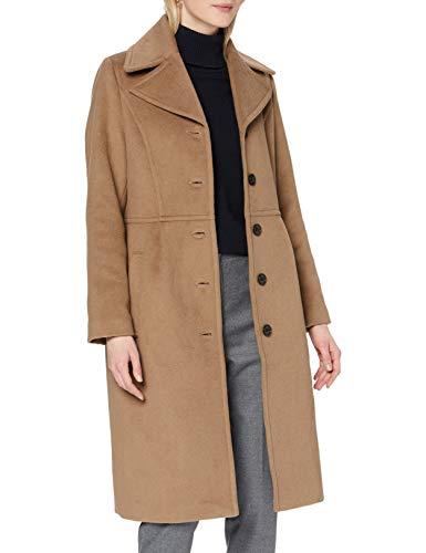 Noa Noa Damen Classic Wool Wollmischungs-Mantel, Otter, 42