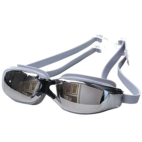 WXGZS Schwimmbrille, Schwimmen Tauchen Wasser Gläser Schwimmen Einstellbare Frauen Männer Galvanisieren UV wasserdichte Antifog Swimwear Brillen Hohe Qualität (Color : KH065H)