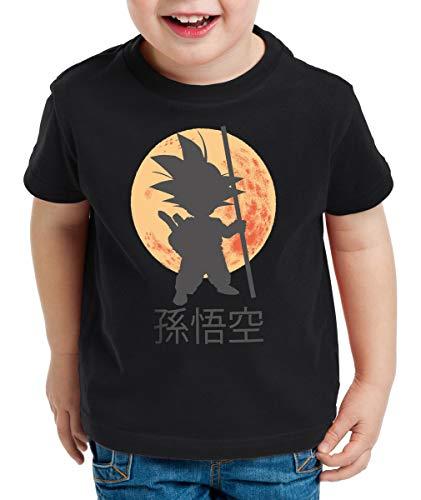 style3 Goku Moonlight Kinder T-Shirt, Farbe:Schwarz, Größe:140