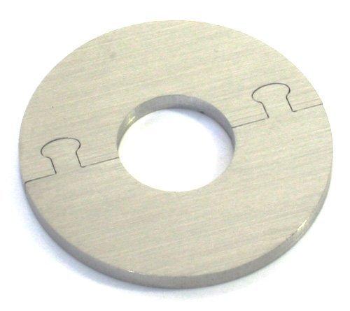 EXKLUSIVE EDELSTAHL rund Heizkörper Rosette - Einzelrosette für HEIZUNG Ø 12-28 mm (16 mm Rohrdurchmesser)