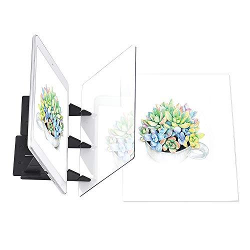 Aibecy Zeichenbrett Optisch Zeichnen Projektor Zeichenplatte Skizzieren Malwerkzeug Animation Kopierblock Keine Überlappung Schatten Spiegelbild Reflektionsprojektor Nullbasiertes Spielzeug (#1)