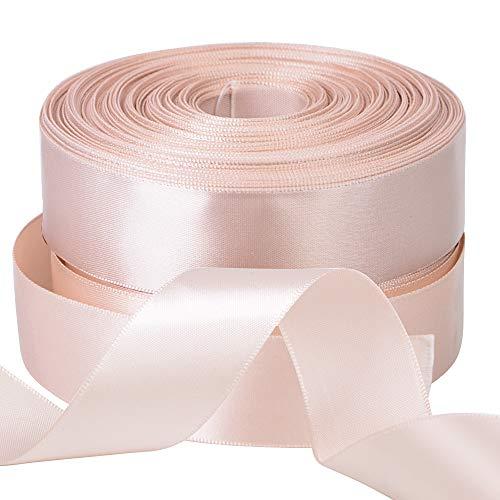FLOFIA 2 Rolle 22m Satinband 25mm Lavendel Geschenkband zum Basteln und Verpacken Schleifenband Dekoband Stoffband Geburtstag Geschenkverpackung für Taufe Hochzeit Weihnachten (2,5cm)