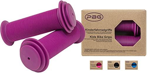 PBG Kinderfahrradgriffe Fahrradgriffe Kinder für Mädchen Jungen in Lila schadstofffrei | Phthalate frei (Violett)