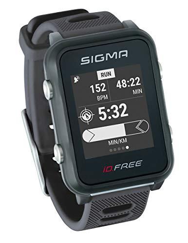 SIGMA SPORT iD.Free GPS Multisport-Uhr für Outdoor und Navigation, Smart Notifications, Geocaching, Pulsmessung am Handgelenk, wasserdicht, inkl. Fahrradhalterung