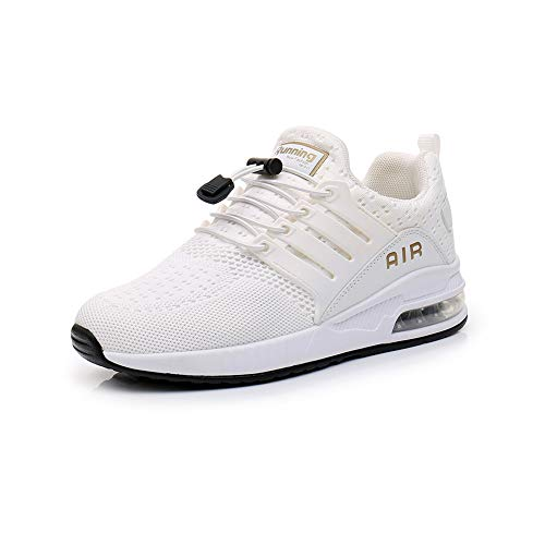 Laufschuhe Herren Damen Atmungsaktive Stoßdämpfende Sportschuhe Freizeitschuhe Outdoor Fitness Joggen Sneakers White41