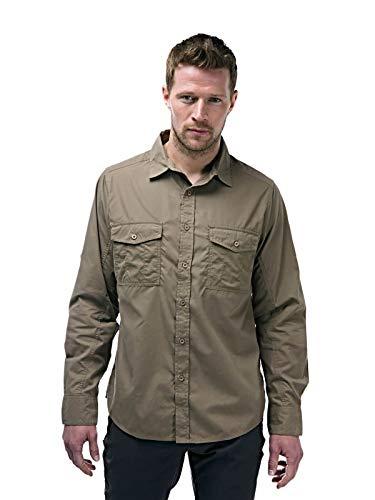Craghoppers Herren Outdoor Reise Kiwi Langarm Hemd, grün(Pebble),XXL