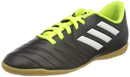 adidas Unisex-Kinder Fußball Hallenschuh Copaletto IN Fußballschuhe, Schwarz (Schwarz/Weiß/Gelb 000), 38 2/3 EU