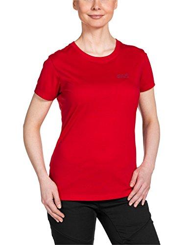 Jack Wolfskin Damen Shirt Essential Function 65 T W, Red Fire, M, 1803871-2590003