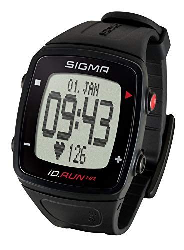 SIGMA SPORT Pulsuhr iD.Run HR Black, GPS-Laufuhr, Handgelenk-Pulsmessung, Activity Tracker, Schwarz