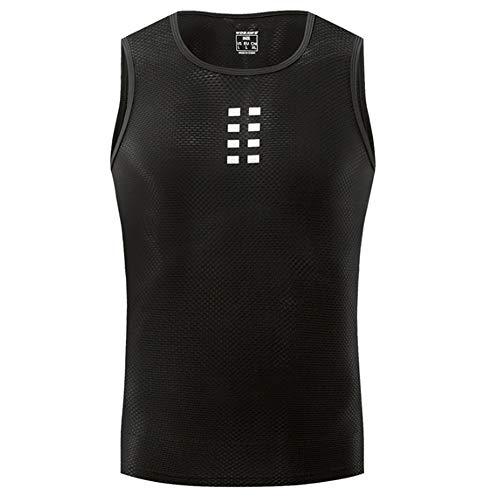 Ärmelloses Herren-Unterhemd, Radfahren Base Layer Bike-Oberteil Atmungsaktiv Superlight Moisture Wicking,M