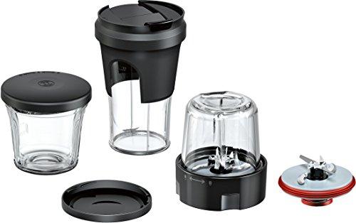 Bosch Zubehör-Set TastyMoments MUZ9TM1, 5-in-1 Multi-Zerkleinerer-Set (Mixen, Mahlen, Hacken, Aufbewahren, ToGo-Lösung), für OptiMUM Küchenmaschine