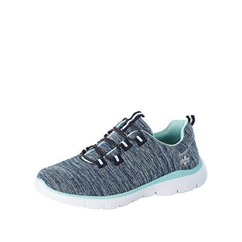 Rieker Damen Low-Top Sneaker M5050, Frauen Halbschuhe,Halbschuhe,straßenschuhe,Freizeitschuhe,Sportschuhe,Sneaker,Wedge,Heel,blau (15),40 EU / 6.5 EU