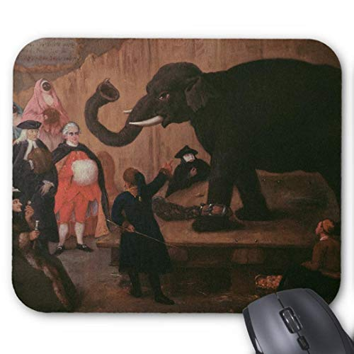 Mouse-Pad 24*20cm   Qualit?ts-Mauspad aus strapazierf?higem Kunststoff mit rutschfester Unterseite aus Zellkautschuk - passend f¨¹r alle g?ngigen Mouse-ein in venedig gezeigter elefant auf leinwand
