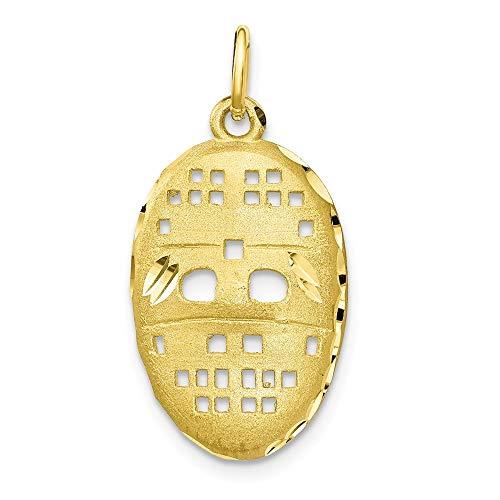 10 k Mask Hockey-Charm höherer Goldgrad als 9 Karat Gold-JewelryWeb