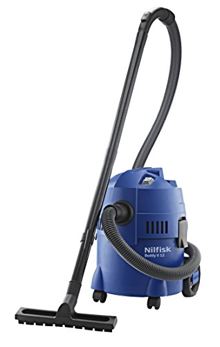 Nilfisk Buddy II 12 EU Nass-/Trockensauger, für die Reinigung im Innen- & Außenbereich, 12 Liter Fassungsvermögen, 1200 W Eingangsleistung (blau)