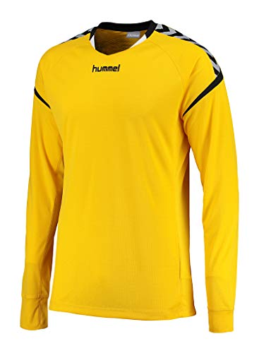 Hummel Herren Auth Charge LS Poly Jersey T-Shirt, Sports Yellow, XL