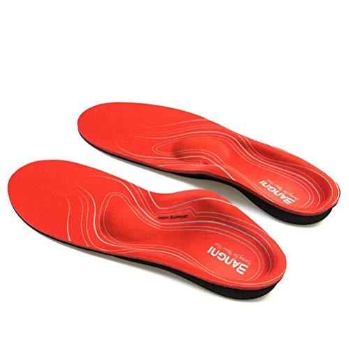 3ANGNI Orthesen-Einlegesohle High Arch Support-Einsatz zum Servieren von plattfuß Plantarfasziitis Orthopädische herren Frauen Schuh einlagen Pad