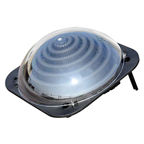 DREAMADE Solar Poolheizung mit Schlauch, Schwimmbadheizung mit Ständern & Schwenkbarem Anschluss, Kollektor Solarkugel für Schwimmbad & Whirlpool, 57x57x22cm
