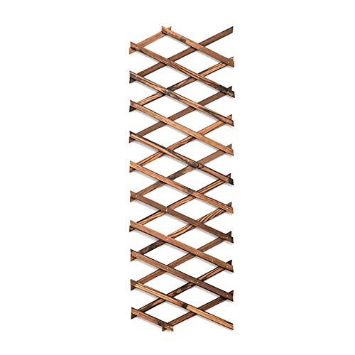 Holzgitter-Wand-Pflanzgefäß erweiterbar Rankgitter für Kletterpflanzen Holz-Pflanzgefäß Rankgerüst Pflanzen-Kletter-Hängerahmen Spalier Wanddekoration für Zimmer Terrasse Garten