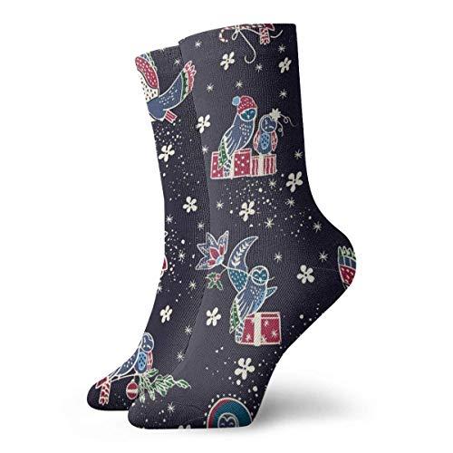 yting Herren Damen Athletic Sport Strümpfe Eule und Geschenk Lustige Polyester Crew Socken 30cm