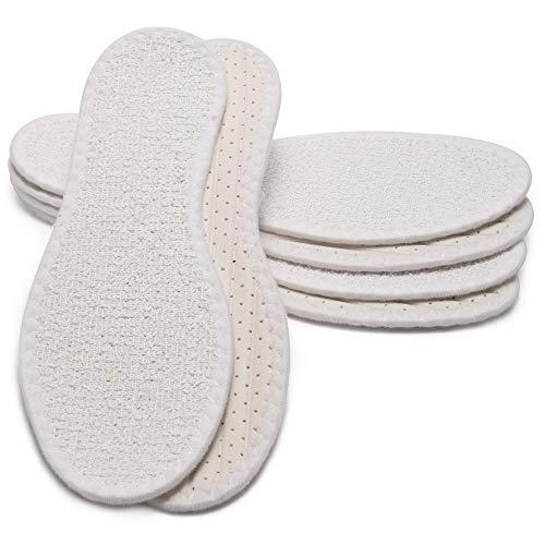 MAROL Barfußsohle aus 100% Baumwolle Frottee mit Latexdämpfun, Antibakteriell, Aktivkohle, Atmungsaktiv/Größe 36-47 (40), 3er