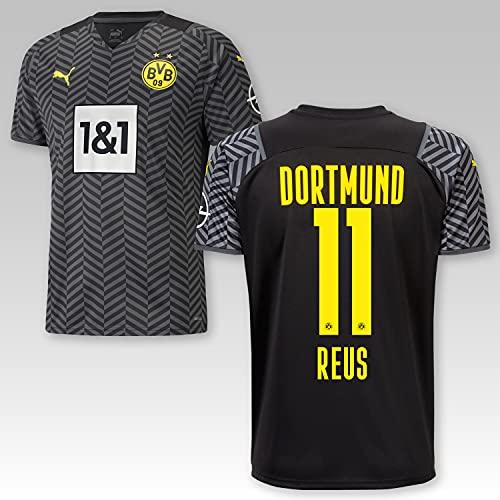 TSH7NDF Dortmund Erwachsene Trikot Away 2021/22, Größe:3XL, Spielername:11 Reus
