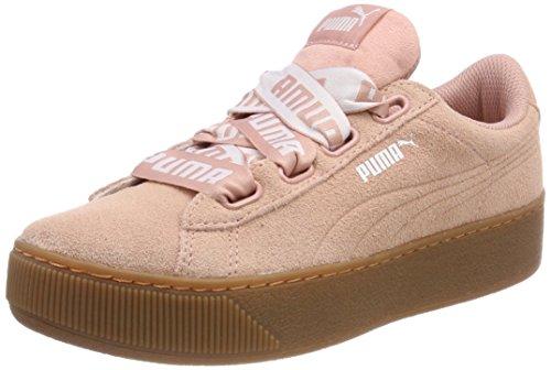 PUMA Damen Vikky Platform Ribbon Bold Sneaker, Beige (Peach Beige), 38.5 EU