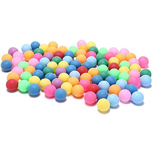 Taloit Pong Bälle Tischtennisbälle Spiel - Sportiv 50 Stück 40 mm Bunt Ping Pong Tischtennis Bälle für Spiele, Outdoor-Sport 2,4 g zufällige Farben