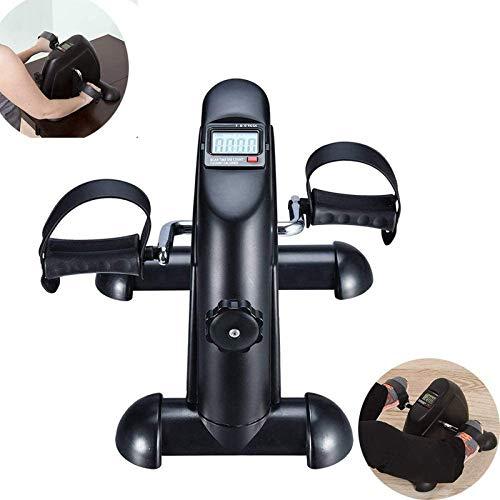 SHKUU Peddler Exerciser, Mini Fitness Exercise Pedal Exerciser Schreibtisch-Heimtrainer Tragbares Fahrrad unter dem Schreibtisch für Beinarm- und Knie-Erholungsübungen mit LCD-Display-Kalorienzähler