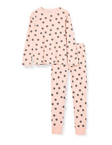NAME IT Mädchen NKFNIGHTSET Strawberry Cream DOT NOOS Pyjamaset, 110-116