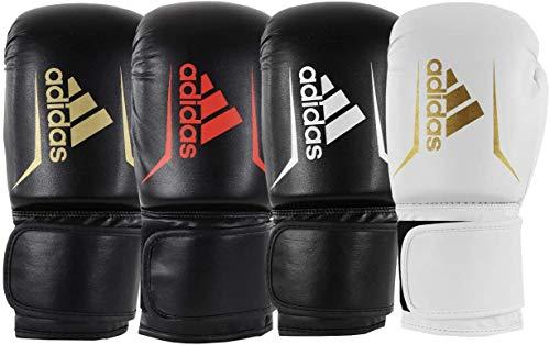 adidas Erwachsene Speed 50 Boxhandschuhe, schwarz/weiß, 8 oz