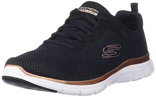 Skechers Damen Flex Appeal 4.0 Brilliant View Sneaker, Schwarz, 40 EU