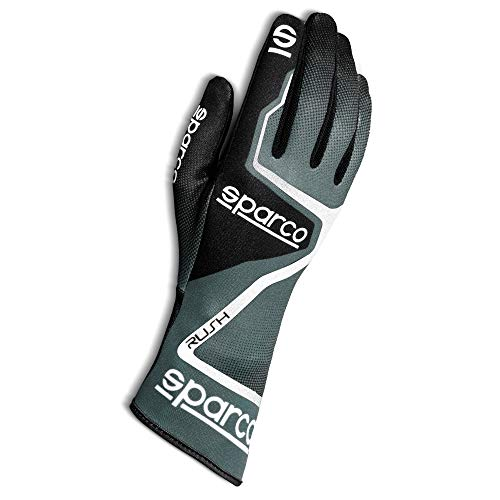 SPARCO 00255609GRNR Karting-Handschuhe, Grau/Schwarz, 9